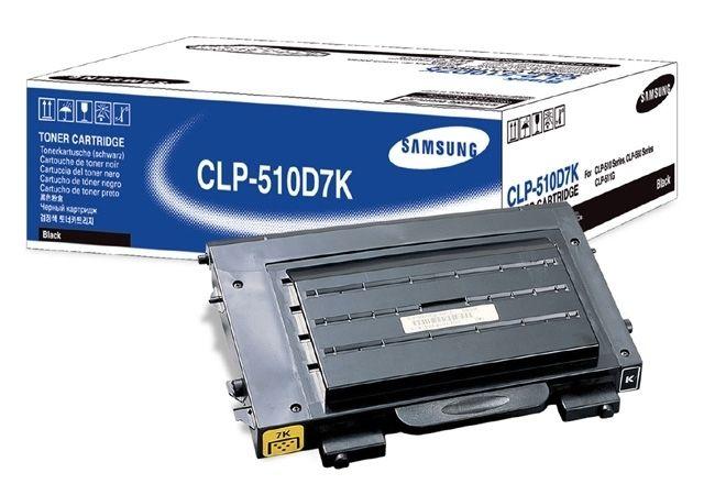Заправка Samsung CLP-C510D7K Black