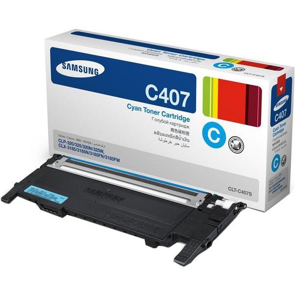 Заправка Samsung CLT-C407S Cyan