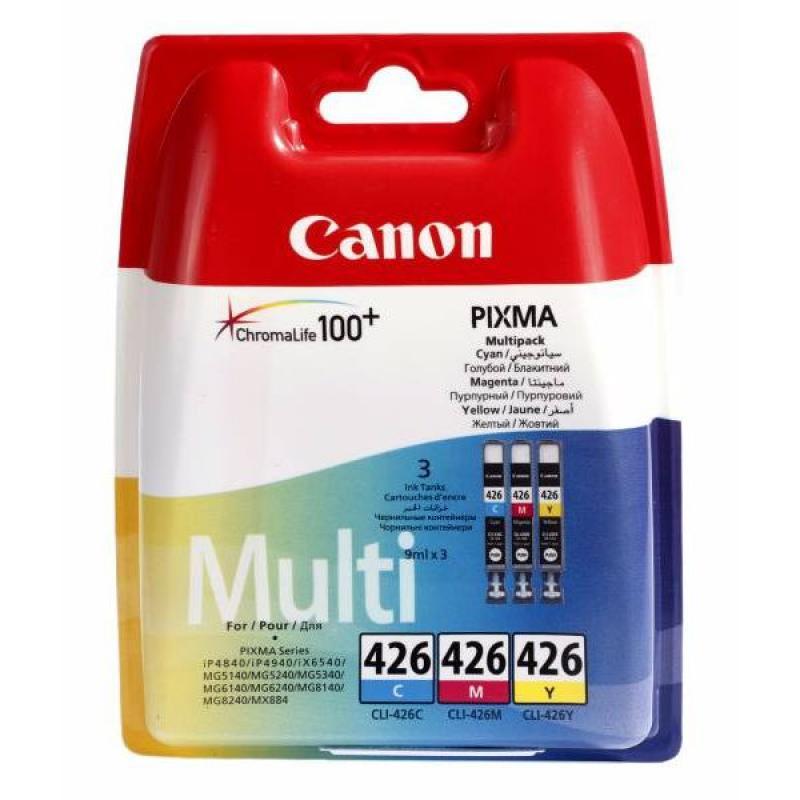 Заправка струйных цветных картриджей 'Canon' CLI-426C / CLI-426M / CLI-426Y