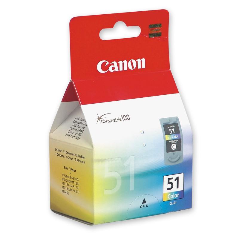 Заправка струйных цветных картриджей 'Canon' CL-51