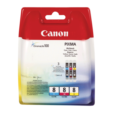 Заправка струйных цветных картриджей 'Canon' CLI-8C / CLI-8M / CLI-8Y / CLI-8PC / CLI-8PM